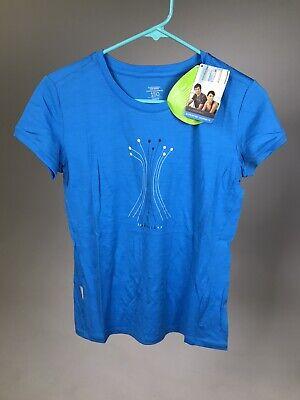 ICEBREAKER 100% Merino Wool Women's Tech Water Reeds - BLUE - Small - NEW!