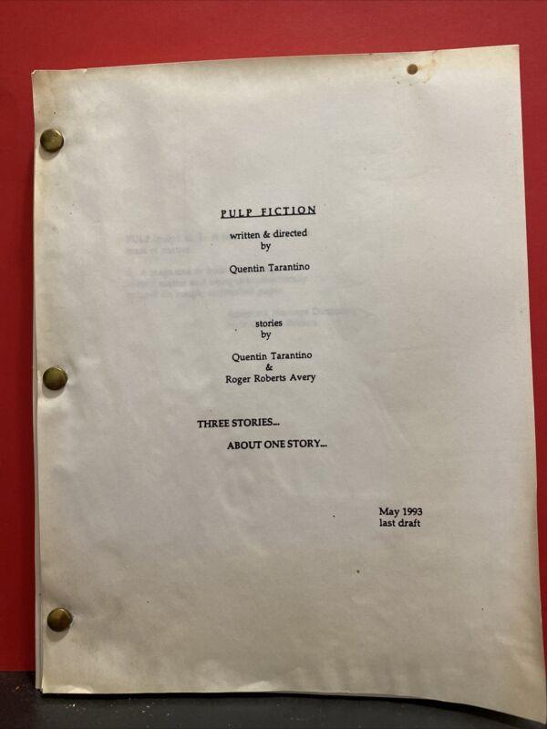 Pulp Fiction screenplay Quentin Tarantino Roger Roberts Avery may 1993 last draf