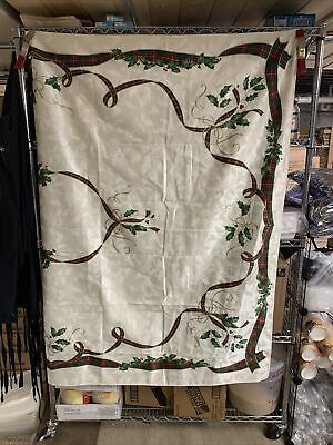"Lenox Holiday Nouveau Christmas Table Ribbon Table Linen 60""x 84"""