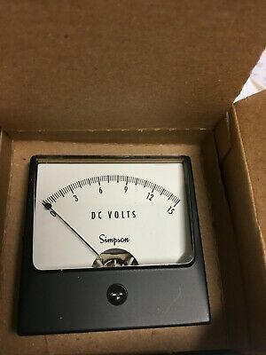 Simpson Instruments Panel Mount Dc Voltmeter