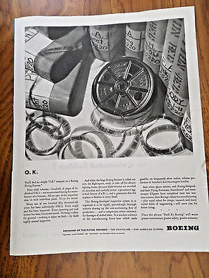 1943 WW II Boeing Ad O.K. You'll find no simple OK stamp on a Flying Fortress