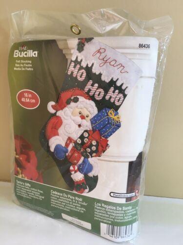 Bucilla felt Christmas stocking kit. 16 In 86436 Santa's G