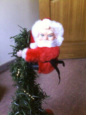 Vintage Clip on Santa Clause Father Christmas 80's Christmas decoration