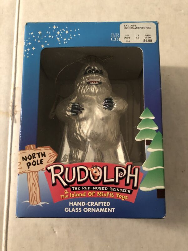 Rudolph BUMBLE Abominable Snowman Glass Ornament Brass Key Collection NIB