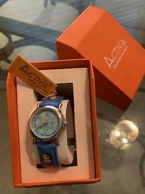 Watch for Kids/Juniors Blue Band Dial Cartoon Character Design Watch, NIB