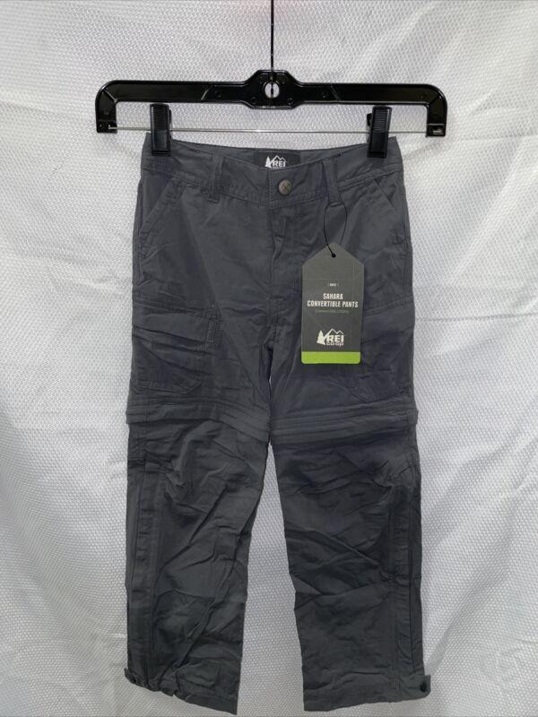 REI Sahara Convertible Pants - Asphalt - Boys XXS (4-5)