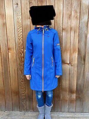 Ladies Gorgeous Blue Ilse Jacobsen Softshell Raincoat Size 38 *Very Rare Colour*
