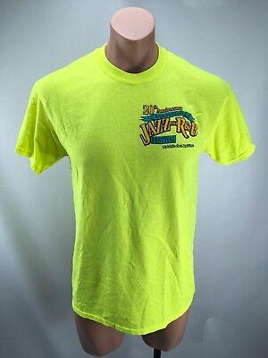 La Jazz Festival - Vtg 80s 20th Anniversary JAZZ R&B FESTIVAL Natchitoches LA NEON T-Shirt STAFF M