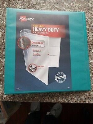 3-ring View Binder Avery Heavy Duty 1.5 Teal 79314 Officeschoolorganizatio