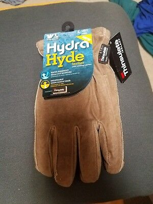 Wells Lamont Leather Work Gloves W Insulated Suede Hydrahyde Technology Large