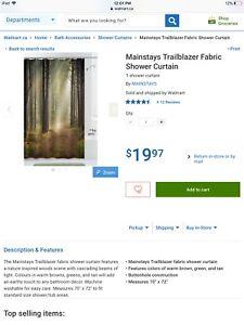 Brand new fabric bathroom shower curtain