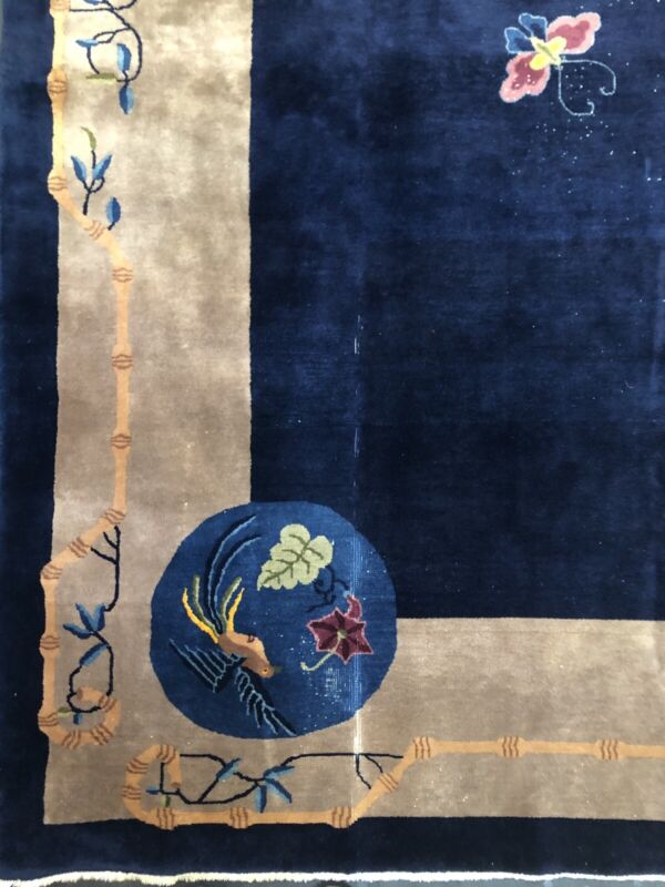 Antique Art Deco - 1920s Art Nouveau Rug - Chinese Oriental Carpet - 12 X 16 Ft