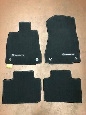 LEXUS IS 2015-2019 4 PCS BLACK CARPET FLOOR MATS REAR WHEEL DRIVE PT206-53142-50 Carpet Floor Mats Rear Wheel