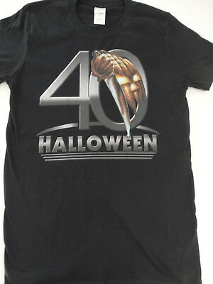 Michael Myers Halloween Movie 40 Years Pumpkin Knife Boogeyman T-Shirt (Michael Myers Pumpkin)