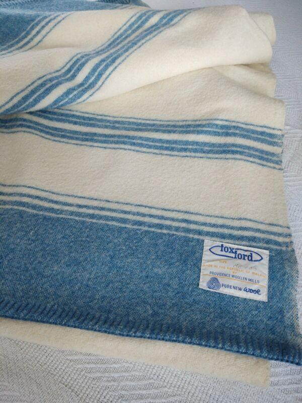 """Vintage Beautiful Made In Ireland 83"""" By 100"""" Wool Blanket"""