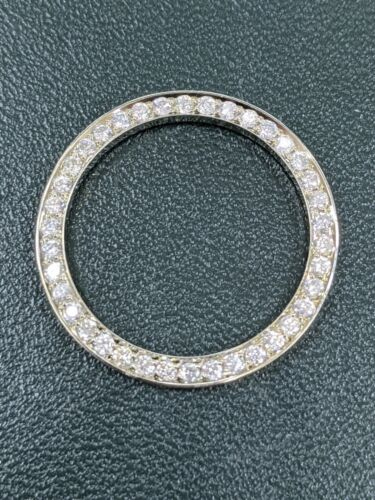 Custom Diamond Bezel .70 Cts. Set in Stainless Steel For Rolex Ladies No Date