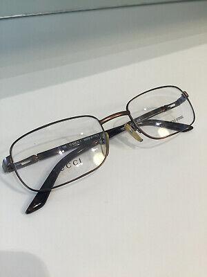 Brand New Gucci Men Authentic Eyeglasses Vintage GG 1369 8XK Rare Frame Rx Case
