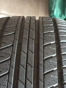 Set of four all seasons tires/rims/hapcup for sale.