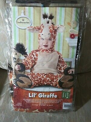 In Character Lil Giraffe Baby 6-12 Months Halloween Costume 100% Polyester 4...
