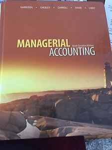 Cost Accounting textbook Kitchener / Waterloo Kitchener Area image 1