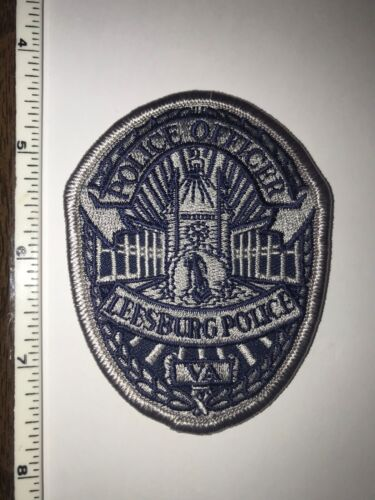 Leesburg Virginia Police Silver Oval Patch New