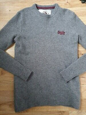Womens Vintage Superdry Lambswool Jumper Size 8-10