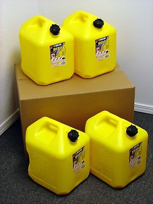 5 Gallon Diesel Can 4 Pack Spill Proof Fuel Container - New - Clean - Boxed