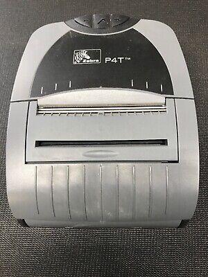 Zebra P4t Mobile Usb Thermal Transfer Rfid Printer Label Maker No Battery