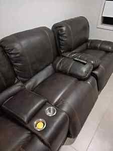Leather sofa recliners 4 seater Durack Brisbane South West Preview