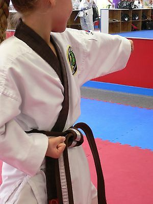 Karate Uniform BROWN TRIM KIT Tang Soo Do Tae Kwon Do