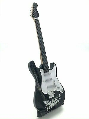 Miniature Fender Standard Stratocaster Guitar -Black Sabbath (Ornamental)