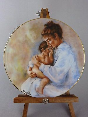 """Limoges France """"Laura & Child"""" Collector Plate / Marian Carlsen / Mother's Day"""