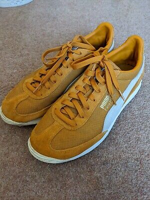 Puma Easy Rider Trainers in Mustard Yellow Suede - Size 8 - RRP £65