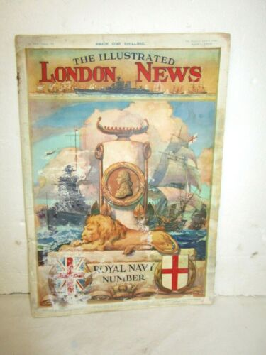 April 1, 1939 The Illustrated London News, special Royal Navy Number magazine