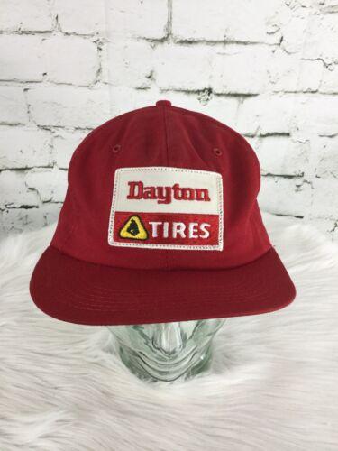 Daytona Tires Trucker Hat Cap Red Snapback Vintage