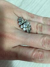 Silver cubic zirconia ring Campbelltown Campbelltown Area Preview