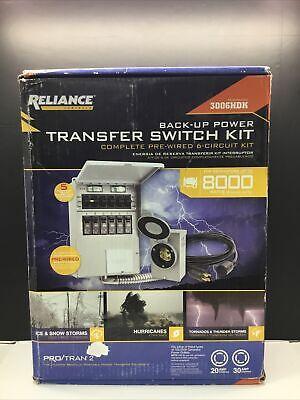 Reliance Controls 8000 Watt Generator Back-up Power Transfer Switch Kit 3006hdk