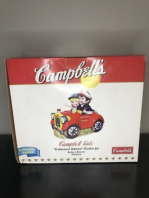Campbell Soup Kids Going Places 2 Car Cookie Jar Collector Limited Edition IOB