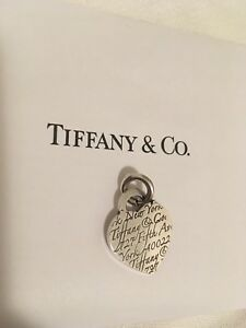 Authentic Tiffany Heart Pendant / Charm with receipt
