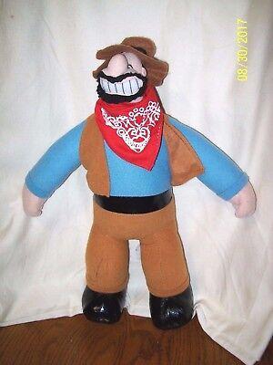 """Popeye Brutus Plush Cowboy Sheriff 2006 KELLYTOY 14"""""""