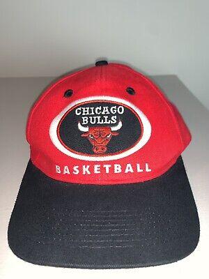 Men's Vintage Throwback Chicago Bulls Red/Black Snapback NBA Basketball Cap Hat