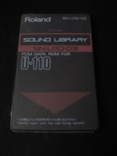 Roland SN U110-03 Ethnic PCM Data ROM Sound Card