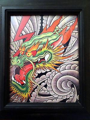 FINE ART PRINT FRAMED 8X10 DRAGON TATTOO FLASH TATTOO ART DRAGON TATTOO HANNYA](Cheap 8x10 Frames)