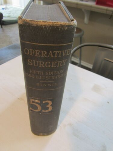 Operative Surgery Book Binnie c1911 w/ 1365 illustrations many Color 5th Edition