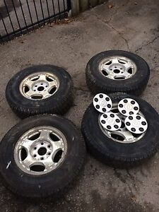 Chevy tires on rims