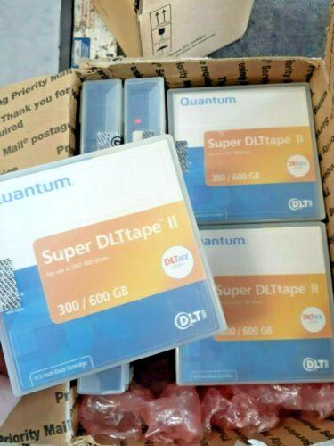 Lot of (10 each) Super DLTtape II 300/600 GB data cartridges