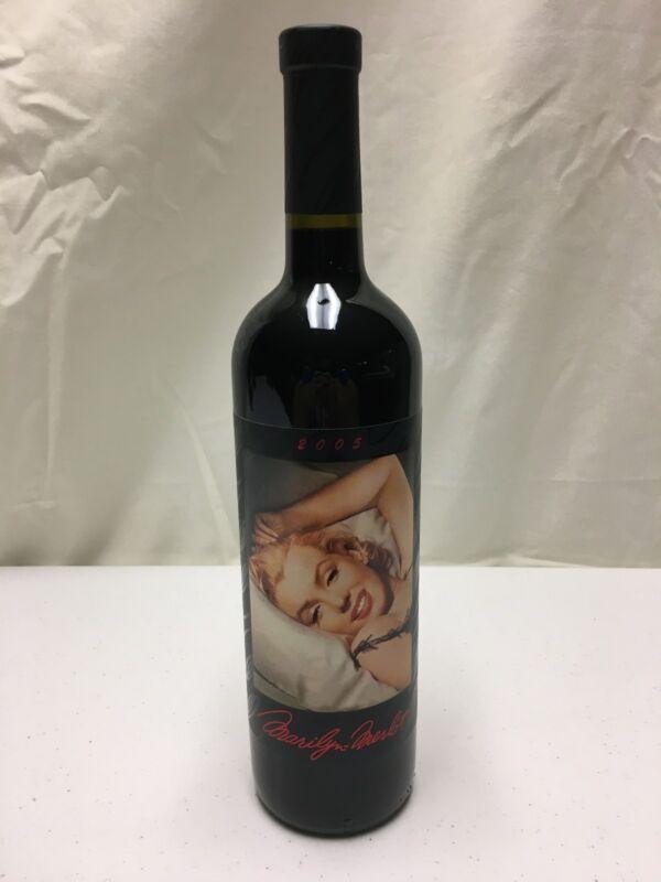 2005 Marilyn Monroe Merlot Napa Valley Red Wine Full Bottle