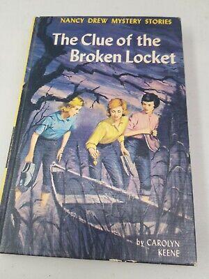 Vintage HB Nancy Drew #11: The Clue of the Broken Locket by Carolyn Keene