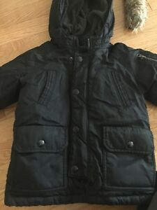 Baby Gap Down-Filled Black Winter Parka Coat (2YR)