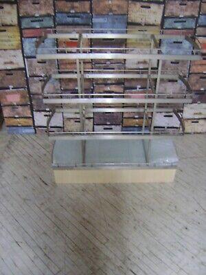 Retail Glass Top Shelving Display 4 Shelf Stand